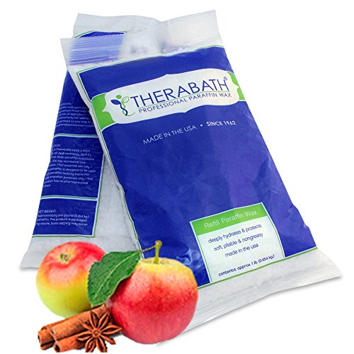 Therabath Paraffin Wax Refill - Use to Relieve Arthritis Pain and Stiff Muscles - Deeply Hydrates and Protects – 6lb Warm Apple Spice – Made in USA