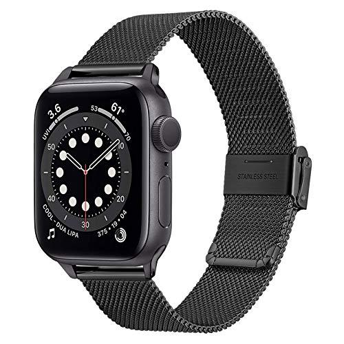 TRUMiRR Reemplazo para Apple Watch Series SE/Series 6 38mm 40mm Correa, Correa de Reloj de Acero Inoxidable Tejida con Malla para iWatch Apple Watch SE Series 6 5 4 3 2 1 Hombres Mujeres