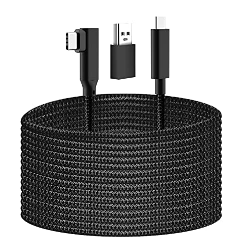 KYA Link Cable 20FT/6M Compatible for Oculus Quest 2 / Quest 1, Fast Charging & PC High Speed Data Transfer USB C 3.2 Gen1 Cable for VR Headset and Gaming PC