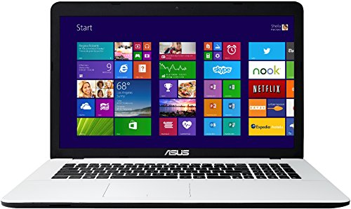 Asus F751MA-TY238H 43,9 cm (17,3 Zoll) Laptop (Intel Core 2-Quad N2940, 2,2GHz, 8GB RAM, 1000GB HDD, Intel HD, DVD, Win 8) weiß