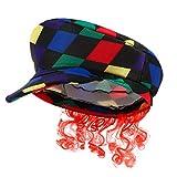 ABOOFAN Scots Tartan Hat with Ginger Hair Scottish Irish Tam Hat Plaid Tam Accesorio para El Cabello