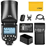 Godox V1-N TTL Runder Kamerablitz-Blitzgerät für die Kamera, kompatibel mit der Nikon-Kamera