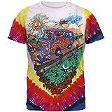 Liquid Blue Men's Grateful Dead Summer Tour Bus T-Shirt, Multi, X-Large