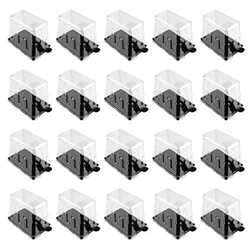 Hemoton 20Pcs Envase de Pastel de Plástico Caja de Pastel Transparente Rectangular...