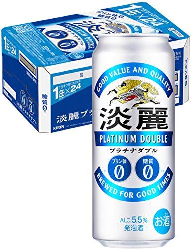 【発泡酒】[糖質ゼロ・プリン体ゼロ]キリン 淡麗プラチナダブル [ 500ml×24本 ]