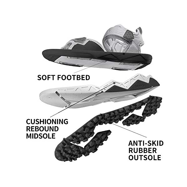 RAX Men's Cushioning Two-Strap Sport Sandal Outoor Antiskid Hiking Sandal