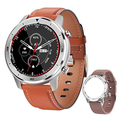 GT FEELINGS Smartwatch, Reloj Inteligente Fitness Hombres Mujeres Niños Impermeable Pulsómetros Podómetro Caloría Pulsera de Actividad Reloj Deportivo para Android iOS (MARRÓN)