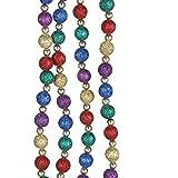 Kurt Adler Multi-color Glitter Beaded Garland, Set of 2