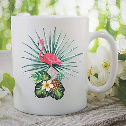 N\A Taza de café con Flamenco, Taza de té de cerámica para cumpleaños, día de la Madre, Mejor Amiga, hogar, Hija, Regalo, Flamenco, Regalo, Taza de Oficina