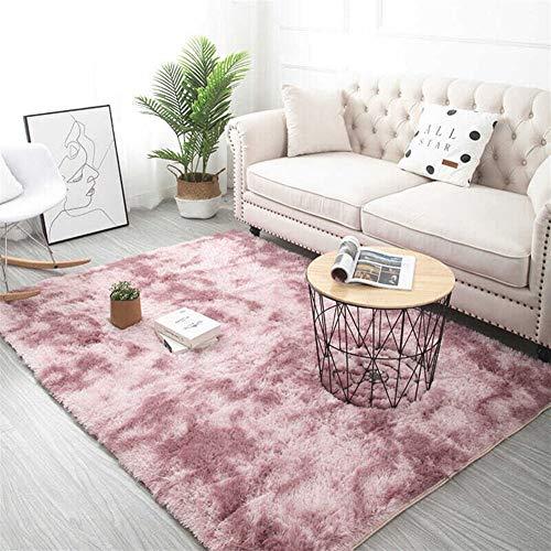 Jnszs Alfombra de 18 colores para teñir, suave, alfombra para salón, dormitorio, antideslizante, cojín suave, alfombra para salón, alfombra para dormitorio