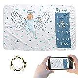 JMITHA - Manta para bebé con diseño de hito mensual, fondo de fotos de...