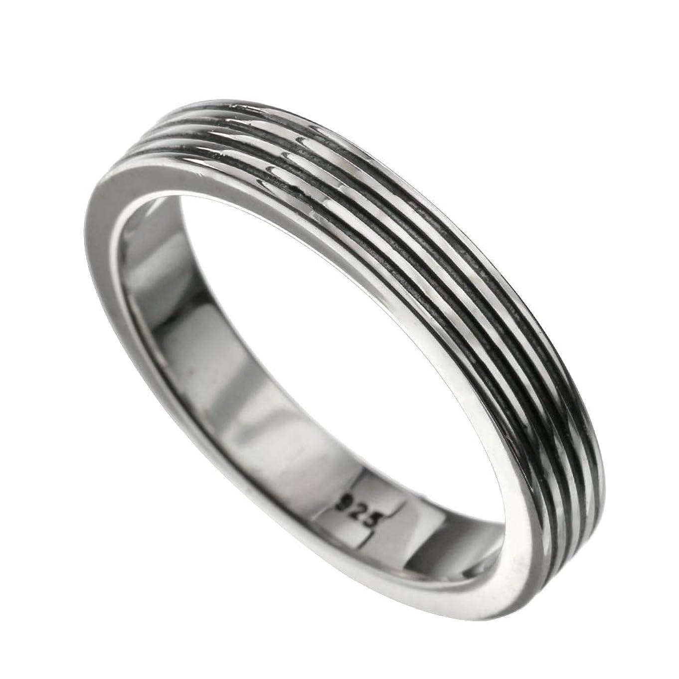 円形の透過性減少Binich(ビニッチ) フォー ブラック ライン リング 指輪 (17号)