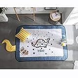 AQUYY Cartoon EIS Seidenteppich, Krabbeldecke Baby, Rechteckigen Dicken Rutschfesten Teppich, Für Kinderzimmer, Wohnzimmer, Schlafzimmer (150 * 200cm)