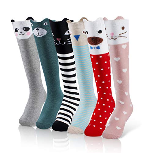 6 Pairs Knee Socks Girls for 5-12 Years Old Now $9.79