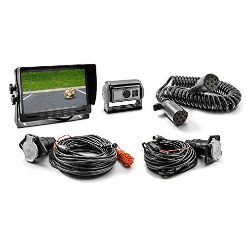 Carmedien Video Rückfahrsystem cm-SKAHRFS mit Shutter Rückfahrkamera für Anhänger Hänger Trailer 12V ~ 24V trennbar