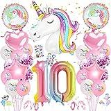Globos Numeros Gigantes Unicornio,Cumpleaños Niñas Unicornio,Globo Numero Unicornio,Globo de Cumpleaños Número Unicornio,Globos de Cumpleãnos Unicornio,Globos Numeros Gigantes para Fiestas (10)