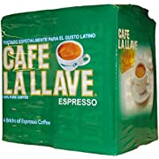 Café La Llave Espresso, Fine Grind, 100% Pure Coffee, Dark Roast, Rich and Aromatic, 4,  10-Ounce  Bricks