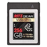 Ritz Gear Video Pro CFExpress tipo B Card 256 GB (1700/1100 R/W) pares con cámaras DSLR compatibles Nikon, Panasonic y Canon