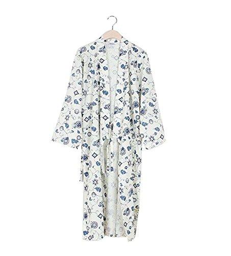Juego de pijamas y conjunto de albornoces Kimono Robe and Pant para hombre (Thin) - A5