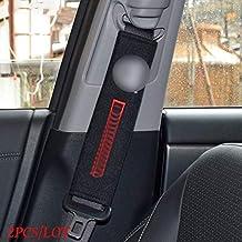 YGTY Seat belt For Dacia Duster Logan Sandero 2 Mcv Sandero Automobiles Interior Accessories Car Carbon Fiber Seat Belt Pad Seat Cover 2pcs