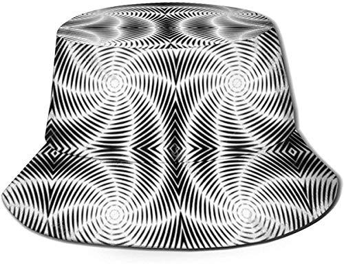 Diseño de Gorras Vortex sin Color Patrón de torsión Sombrero de Pescador Sombrero de Sol de ala Ancha para Hombres Mujeres Adolescentes Acampar al Aire Libre Senderismo Pesca