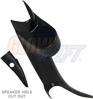 GlowShift Black Single Pillar Gauge Pod for 2000-2006 Chevrolet Chevy Silverado 1500 2500HD 3500HD Duramax - A-Pillar Speaker Cutout - Mounts (1) 2-1/16