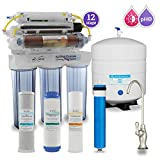 Max Water 12 Stage Home Reverse Osmosis System/Reverse Osmosis Water Filtration System/RO System Under Sink RO Water Purifier 50 GPD RODI System, UV Filter PH 5-1 Alkaline Water Filter BN D Faucet