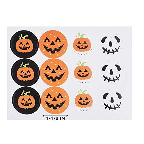 AQ89 Wallpaper Sticker  Halloween Pumpkin Stickers 120Pcs Packaging Seal DIY Candy Gifts Tags Labels New Home & Garden Wall Stickers