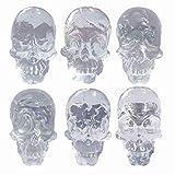 Panda Legends Botones para gabinetes, Paquete de Perlas Decorativas de cráneo simulado, Resina Clara, para niños, 6 pzas