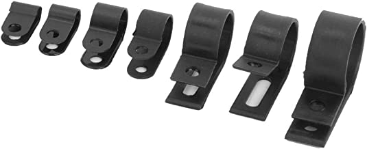 R-Type Cable Clamp, Cable Clamp, Portable for Cable Conduit Wire Management(200 pieces-black nylon R type clip)