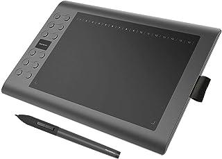 GAOMON M106K Tableta Gráfica 10 x 6 Pulgadas con 2048 liveles de presión 12+16 Teclas de Acceso Directo Personalizables, Portátil para Pintar, Dibujar y Editar Fotos, Compatible con Windows & Mac