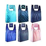 Paquete de 12 bolsas de comestibles plegables reutilizables, ecológicas,...