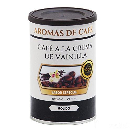 Aromas de Café - Café a la Crema de Vainilla 100% Arábica Ligeramente Tostado Sabor Intenso a Vainilla Molido, 100 gr
