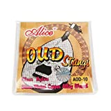 Musiclily Alice Nylon with Silver-Plated Wound 10 String Oud Strings Set