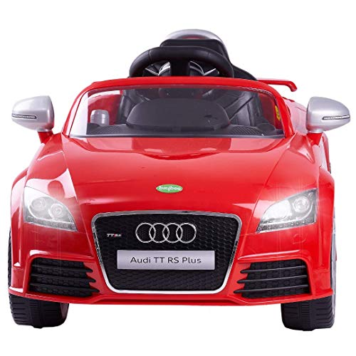 Baybee Licensed Audi TTRS Ride-On Baby Toy Car Rechargeable Battery Operated Ride-On Car for Kids to Drive Baby Car with 6V Battery, Children Car for Boys & Girls Age 2 to 6 (Red)