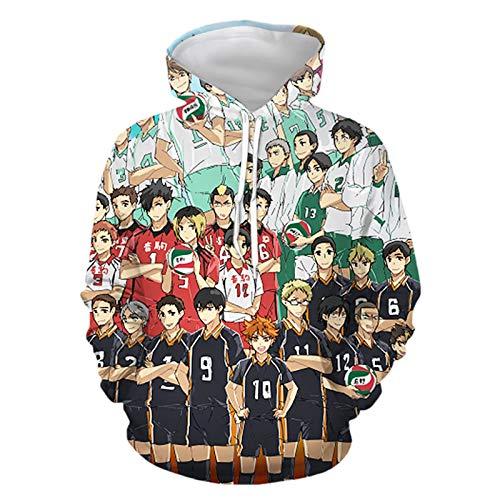 DHSPKN Haikyuu Cosplay Costume Hinata Shoyo Hoodie Sweaters Nekoma High School Uniform