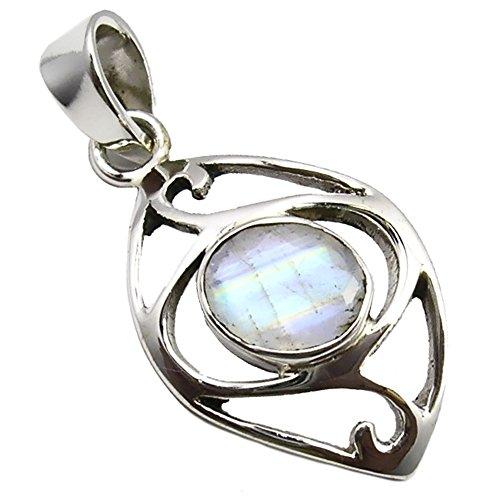 Colgante para la mujer piedra de luna plata de ley 925 joyeria de calidad
