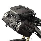 SYCHONG Impermeables Bolsas Manillar Bolsas Bikepacking Packs Frontal 2 Secas para El Camino De MTB Bicicletas Bikepacking Accesorios 19-20L