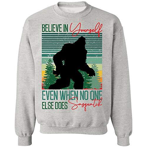 AZSTEEL Bigfoot Believe in Yourself Even When No One Else Does Sasquatch Sweatshirt,Gifts