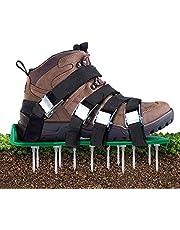 Aunus Grasbeluchter, verticuteermachine, gazon, verticuteermachine, nagelschoenen met 5 verstelbare riemen en metaal, universele maat, past op schoenen of laarzen voor gazon