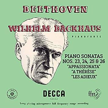 "Beethoven: Piano Sonatas Nos. 23 ""Appassionata"", 24 ""A Thérèse"", 25 & 26 ""Les Adieux"" (Mono Version)"
