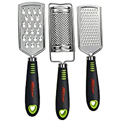 50%OFF ALLTOP Graters for Cheese,Nutmeg,Potato,Ginger and Garlic,Hand-held Stainless Steel Zester for Kitchen