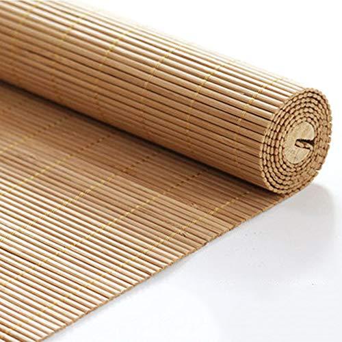 Persianas Enrollables De Bambú, Natural Cortinas Opacas Persiana De Bambú Cortina Madera Persiana Enrollable Protector Fácil De Instalar Solar Para Balcón Casa De Familia,Tamaños múltiples(60*220)