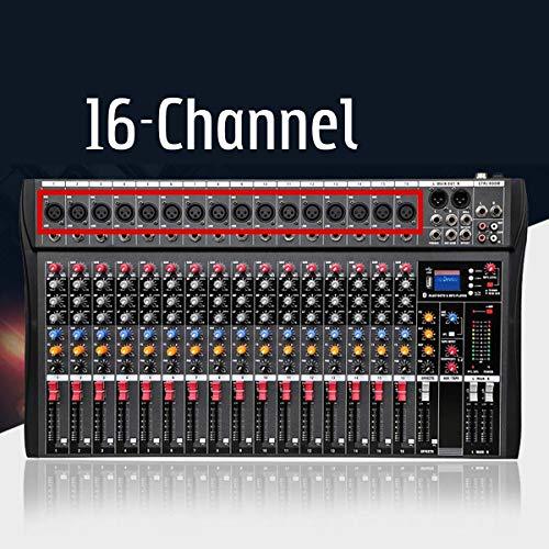 Great Deal! WANGYONGQI Professional 16 Channel Bluetooth USB Audio Mixer DJ Sound Mixing Console Com...