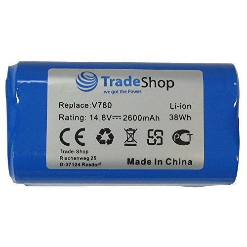 2x Trade-Shop Premium Li-Ion Akku 14,8V / 2600mAh / 38Wh für Ecovacs Deebot CR130 CEN 540 Dibea V780, V870 ersetzt 4ICR19/65