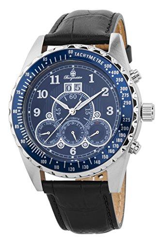 Burgmeister Herren Datum klassisch Automatik Uhr mit Leder Armband BM302a-132