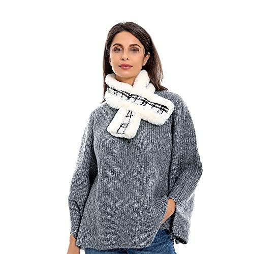 COLiJOL Bufanda Gruesa para Mujer Bufanda Cálida de Invierno con Estampado de Cuadros Saajes Y Cálida para Mujer (Color: B, Tamaño: 80X12Cm),C,Los 80X12Cm