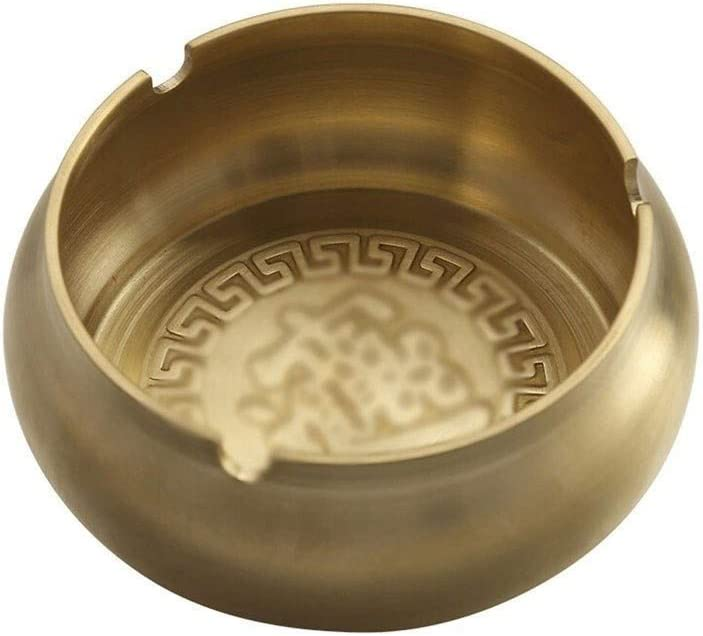 Ashtray Max 73% OFF All items in the store Pure Copper Carving Pattern Decoration Ash Tray