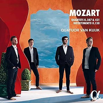 Mozart: Quartets K.387 & 421 , Divertimento K.138