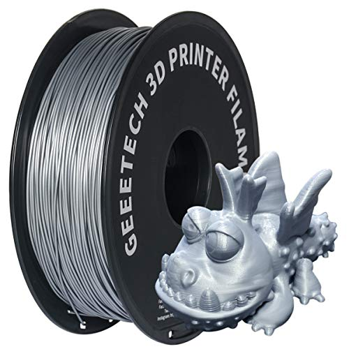 GEEETECH 3d filamento pla, 3d pla filamento 1.75 mm 1 kg, High Quality Reliable 3d Printing filamento For 3d printer, color: Argento